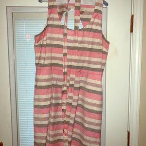 LOFT stripe tea length dress